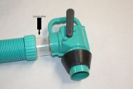 polychute hose arrow on clear nozzle - strongest sewer hose