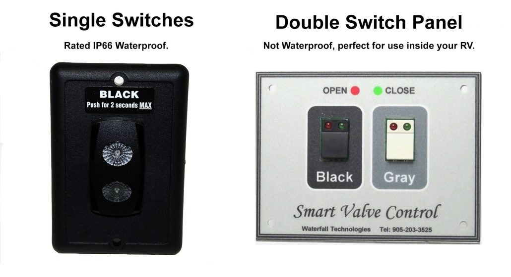 RV Electric Waste Valve Switches