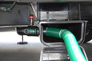 RV Sewer Hose Storage Permanent Connection