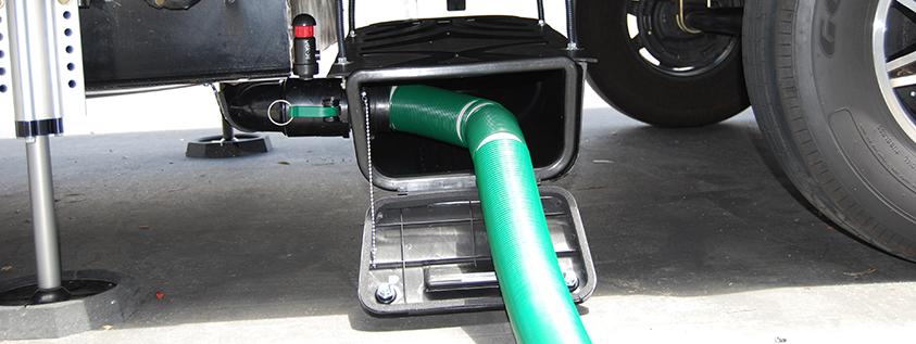 waste master sewer hose storage on 5th wheel